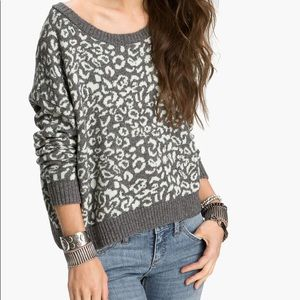 Free People Leopard Print Sweater
